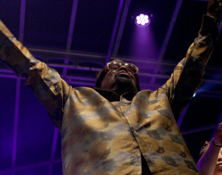 George Clinton at the Lawrence Free State Festival on June 24, 2015. Photo credit: Mason Kilpatrick | KJHK Content